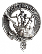 SCOTTISH PEWTER CAP BADGES